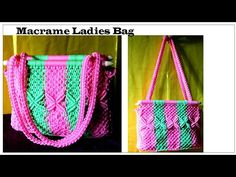 Bag with handles made of macrame