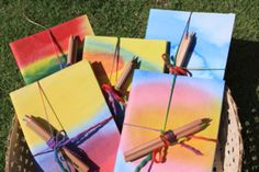 Watercolor handmade journals and other Waldorf crafts for kids