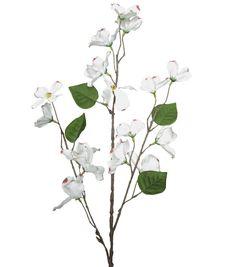 Dogwood silk flower stem centerpieces silk flowers and wedding blooming spring 31 dogwood spray cream mightylinksfo Image collections