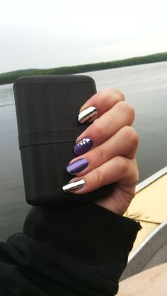Silver chrome, Lavender sparkle and heart strings Jamberry combo