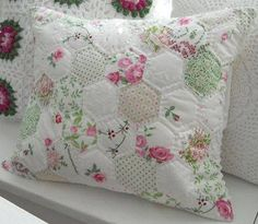 Shabby Chic Hexagon Pillow