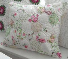 Shabby Chic Hexagon Pillow