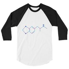 MDMA Chemical Structure 3/4 sleeve shirt