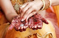 Beautiful Henna on a Bride's Hands