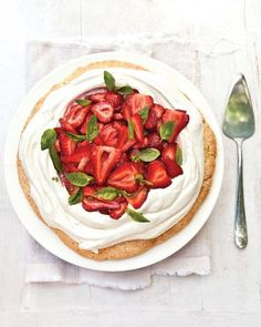 Strawberry Shortcake With Basil Recipe