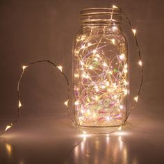 Illuminate anything, anywhere with stunning fairy lights! Create DIY centerpiece decor, shimmering bedroom lights or wrap greenery with fairy lights. These super bright LED light strings plug in or run on batteries, allowing for endless design possibiliti Christmas String Lights, Led String Lights, Light String, Holiday Lights, Holiday Decor, Video Vintage, Novelty Lighting, Led Fairy Lights, Jar Lights