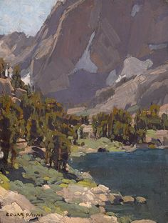 Edgar Payne (1883-1947) End of the lake, California Sierras 15 x 11 3/4in (overall: 22 1/2 x 19 1/2in)