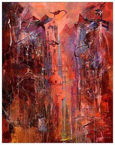 Znamienity / Illustrious, 100x80cm, acrylic, canvas, for sale