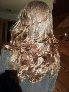 My layered hair