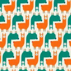 Suzanne Ultman - Suzys Minis - Mini Llama in Park Orange Fabric, Grey Fabric, Sewing Terms, The Wiggles, Thing 1, Green Park, Robert Kaufman, Modern Fabric, Fabric Online