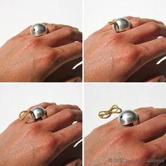 GESTURE - Ring Silver 925 by Laia Calatrava