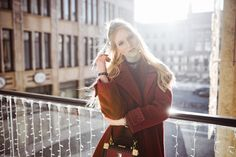 #Editorial w/ Sophie and her #burgundy #coat