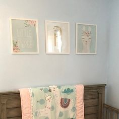 Hey mama! These personalized monogram llama print sets are beautiful and fun and are a perfect addition to add to the nursery. Display them all above the crib, over the change table or just add them into the mix of your already gorgeous gallery wall!