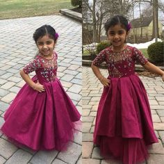 DM us for prices and orders. Party Wear Frocks, Kids Party Wear Dresses, Kids Dress Wear, Kids Gown, Dresses Kids Girl, Kids Indian Wear, Kids Ethnic Wear, Indian Clothes For Kids, Girls Frock Design