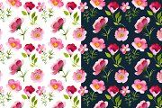 Watercolor flowers + patterns - Illustrations - 3