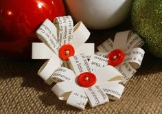 Photos of christmas present wrapping bows | Christmas Gift Wrapping Bows - Bag of Six Small Eco-Friendly Gift ...