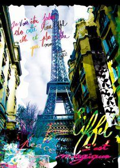 Magique Eiffel Lámina
