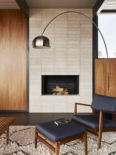 See the Careful Transformation of a #Midcentury #Eichler in San Francisco - Dwell #sanfrancisco #renovation #fireplace