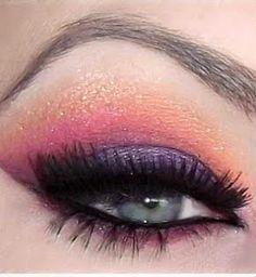 Summer Makeup - sunset eye
