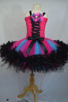 Pink Monster high tutu dress pettiskirt by TutuSweetBoutiqueINC, $40.00
