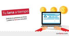 Solo ingresa a www.conlana.com , llena tu solicitud y ¡obtén tu lana en minutos! #Préstamos #Personales www.conlana.com