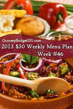 2013 $50 Weekly Menu Plan Week #46: This weeks menu plan consists of super quick meals that take about 20 minutes from start to finish. (click on photo for menu)