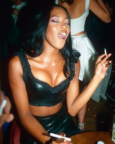 """""""Naomi Campbell during a party at Fashion Café in London, October 1997"""""""