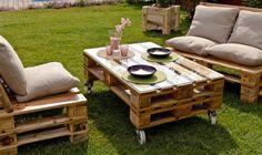 DIY garden furniture and decoration