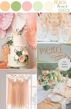 peach & green wedding palette