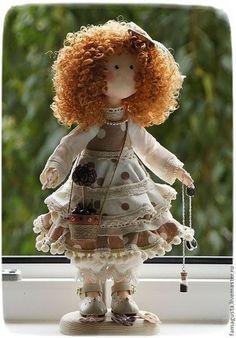 Коллекционные куклы ручной работы. Ярмарка Мастеров - ручная работа Интерьерная текстильная кукла Кофея. Handmade.