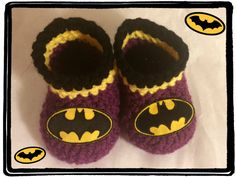 Batgirl Baby Booties Batgirl Baby Shower Gift by HaldaneCreations