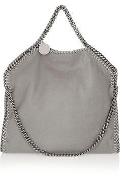 Stella McCartney|The Falabella faux brushed-leather shoulder bag|NET-A-PORTER.COM