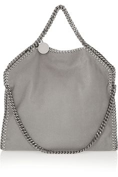 Stella McCartney The Falabella faux brushed-leather shoulder bag NET-A-PORTER.COM