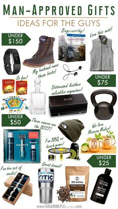 Man-Approved Gift Ideas For the Guys - Men's Gift Guide for The Guys - Christmas Gifts for Him - Holiday Gifts for Men - Gift Ideas for Husband - Guys Gift Guide - What every man wants - Guy approved gift guide giftsforhubby Holiday Gifts For Men, Christmas Gifts For Boyfriend, Holiday Gift Guide, Boyfriend Gifts, Gifts For Dad, Guy Christmas Gifts, Best Gifts For Guys, Best Mens Gifts, Unique Gifts For Men
