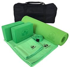 Yoga Mat Thick Set of 7 Gym Workout Pad Non-Slip Pilates Green Fitness  Exercise 628aa0b922d