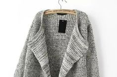 Knit Loose Beige Cardigan Mobile Site