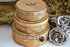 Krabičky - Sada 3 vintage krabičiek - 5804994_