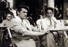 """Jean Marais & Jean Cocteau at the Venice film festival in after the release of """"Beauty & The Collection: Pierre sur le Ciel. All rights go to the Pierre sur le Ciel collection. Art Français, Emperors New Clothes, Jean Cocteau, French Movies, Portraits, Joy Of Life, Jean Michel, Aesthetic Photo, Thankful"""