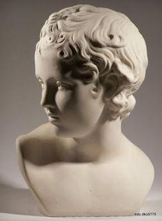 Buste Eros h24 Platre Sculpture Statue Grec Gypse Grece