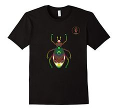 Cooties! La Roche Beetle T-Shirt, Insect Bug Tee Shirt, $19.99. Please LIKE and Re-pin! http://www.amazon.com/gp/product/B01BG7JY3Y For your favorite entomologist or urban city dweller, men, women & youth sizes. Metallic rainbow gradient art on royal blue, brown, black, red & navy.