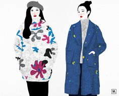 Chinese street fashion illustration on Behance