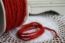Show details for May Arts Twisted Burlap Cord RED