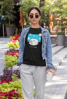 I am a Sheep Shirt Funny Sheep Unisex T-shirt Sweat Shirt, Xl Shirt, Get Over It, The Girlfriends, Heather Black, Jersey Shorts, Mom Shirts, Lady, Short Sleeve Tee