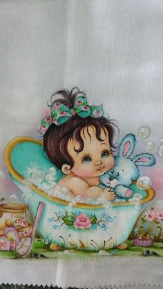 Bebe na banheira