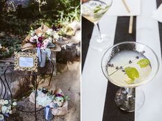 lavender cocktail and flowers