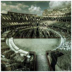 Colosseum Rome, Arena by JeRoenMurre.deviantart.com on @deviantART