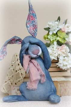 Diy Crafts - collectible bunny loofy by nataliia tovt Sewing Toys, Sewing Crafts, Sewing Projects, Bunny Crafts, Easter Crafts, Easter Ideas, Fabric Toys, Fabric Crafts, Diy Quilt