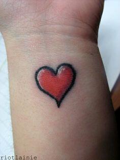 simple-heart-tattoo-design-wrist-girl-love-passion-body-art-skin-ink ...