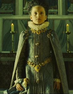 Infanta, or the daughter of the King of Spain, from Elizabeth the Golden Age.  Her costume is an amazing piece of Spanish clothing from this period.  I do not envy this little girl the ruff, but she looked amazing in this movie.