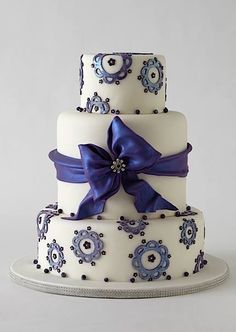 Beautiful Cake Pictures: Beautiful Pale Blue Cake With White Appliques - Blue Cakes, Wedding Cakes - Fondant Wedding Cakes, Fondant Cakes, Cupcake Cakes, Fondant Bow, 3d Cakes, Fondant Tutorial, Fondant Flowers, Fondant Figures, Gorgeous Cakes